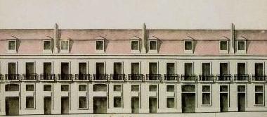 Pormenor de desenho de edifício pombalino
