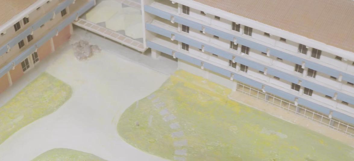 Pormenor de maquete do Complexo dos Coruchéus
