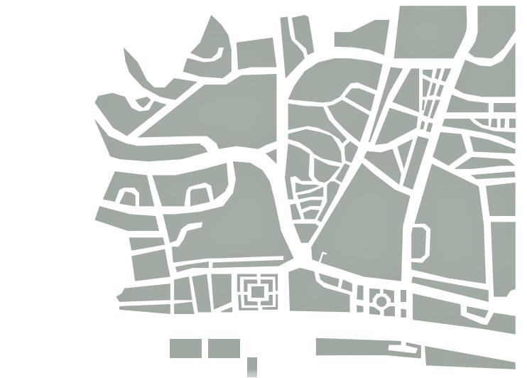 Excerto de planta de Belém em Lisboa