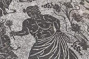 Figura de um romano em mosaico