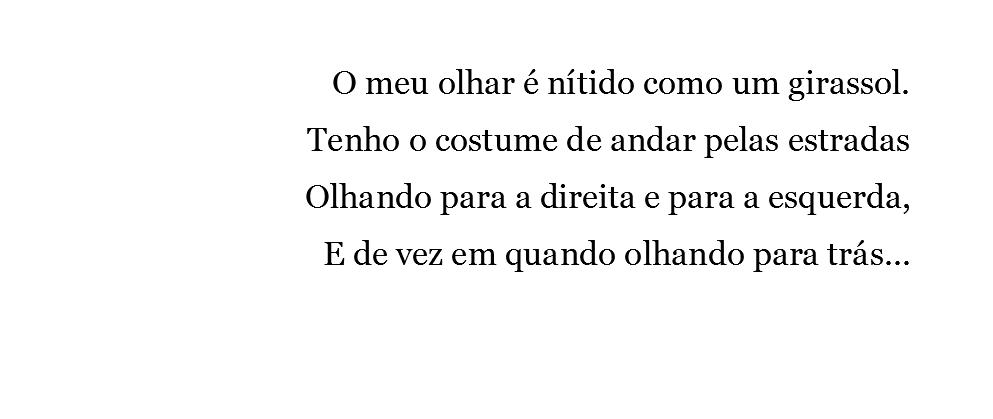 Fotografia de excerto de poema de Fernando Pessoa