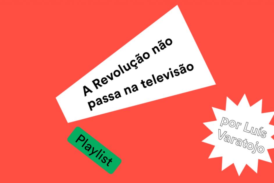 """Imagem com texto """"A Revolução não passa na televisão"""""""