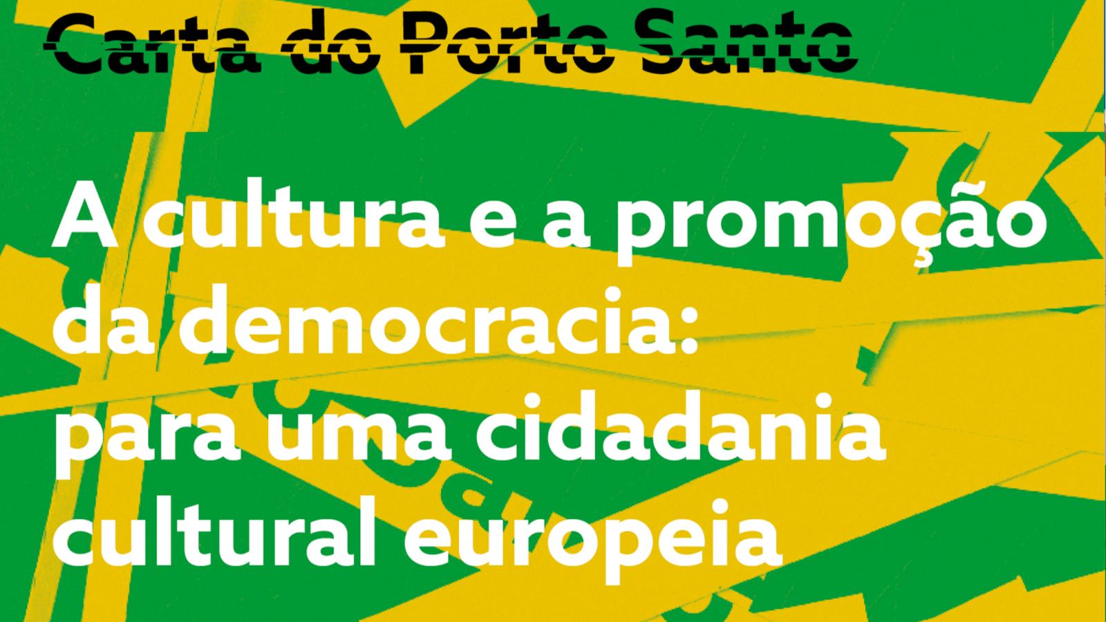 Cartaz alusivo à Carta do Porto Santo