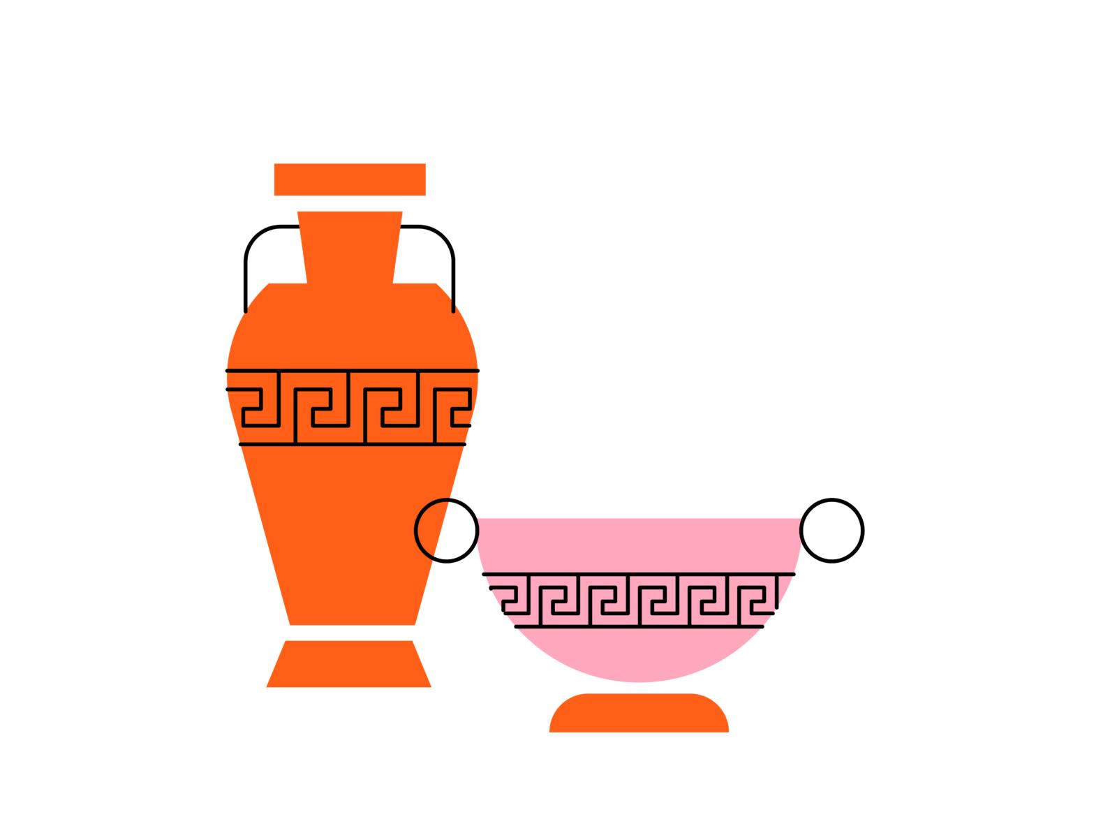 Uma jarra e uma taça